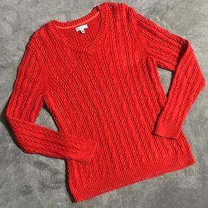 Croft & Barrow Dark Coral/Red Sweater!